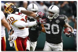 McFadden could have one of his best games of the season against the Washington defence.