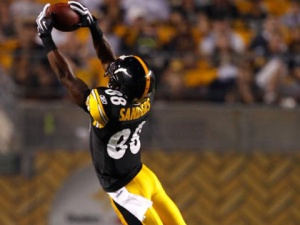 Emmanuel Sanders, not Antonio Brown leads the Steelers in targets, catches and yards.