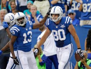 Fleener has some great match ups in the coming weeks and has been very good the last two weeks.